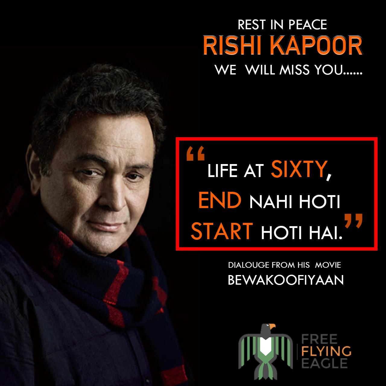 Rishi Sir: One more gem and million more tears